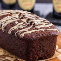 Guinness Chocolate Bread with Bailey's Drizzle
