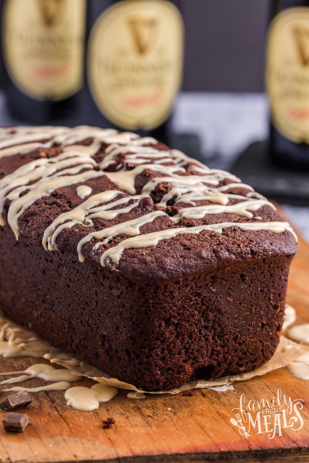 Guinness Chocolate Bread on a cutting board