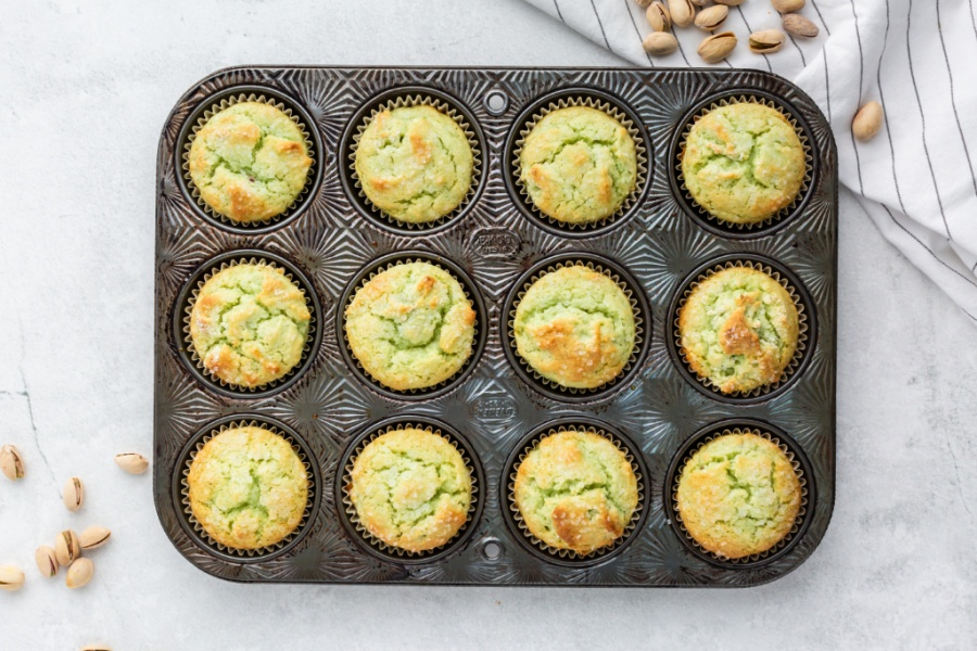 baked muffins in muffin tin