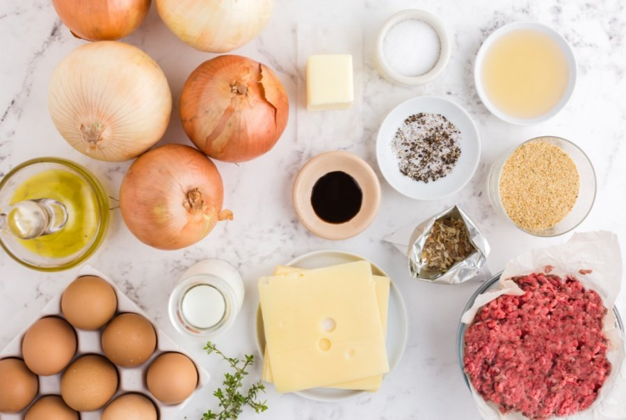 ingredients for crockpot french onion meatloaf