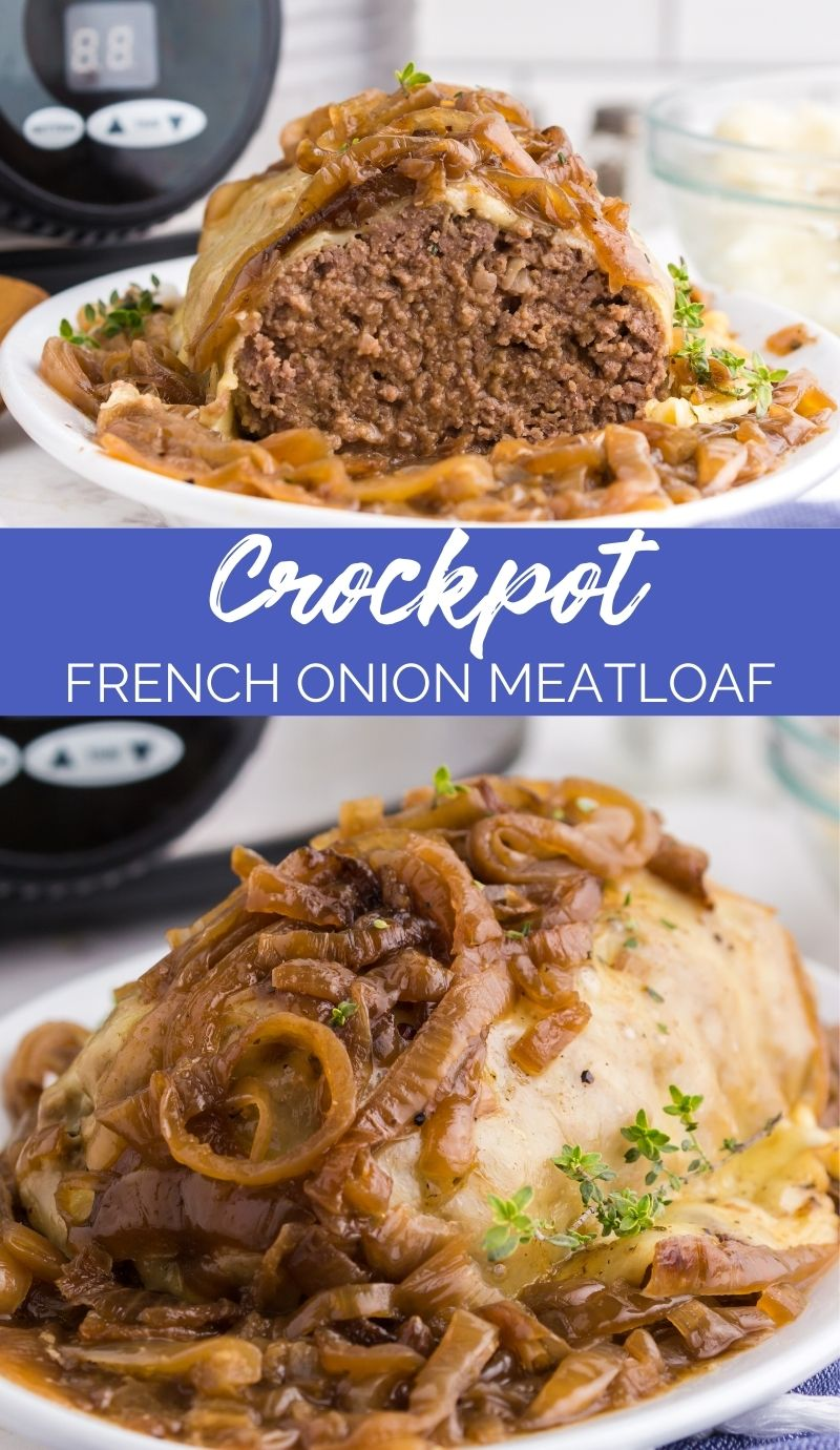 This Crockpot French Onion Meatloaf in my new favorite loaf recipe. If you love caramelized onions, this is the recipe for you! via @familyfresh
