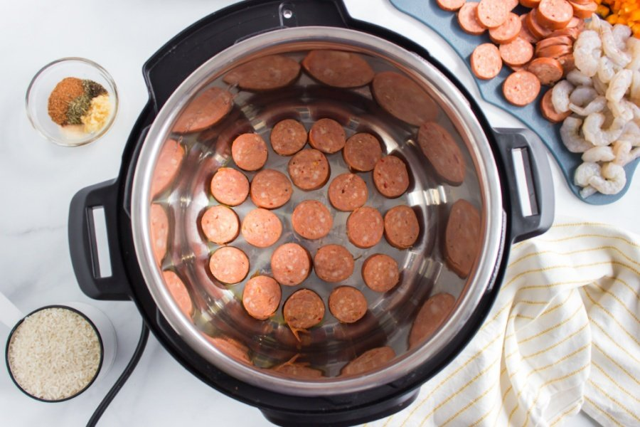 sliced sausage in the instant pot
