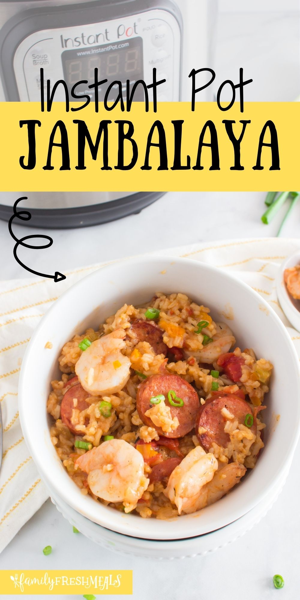 Who's in the mood for a little Cajun cookin'? This Instant Pot Jambalaya is a classic Louisiana stew made easy in your kitchen! via @familyfresh