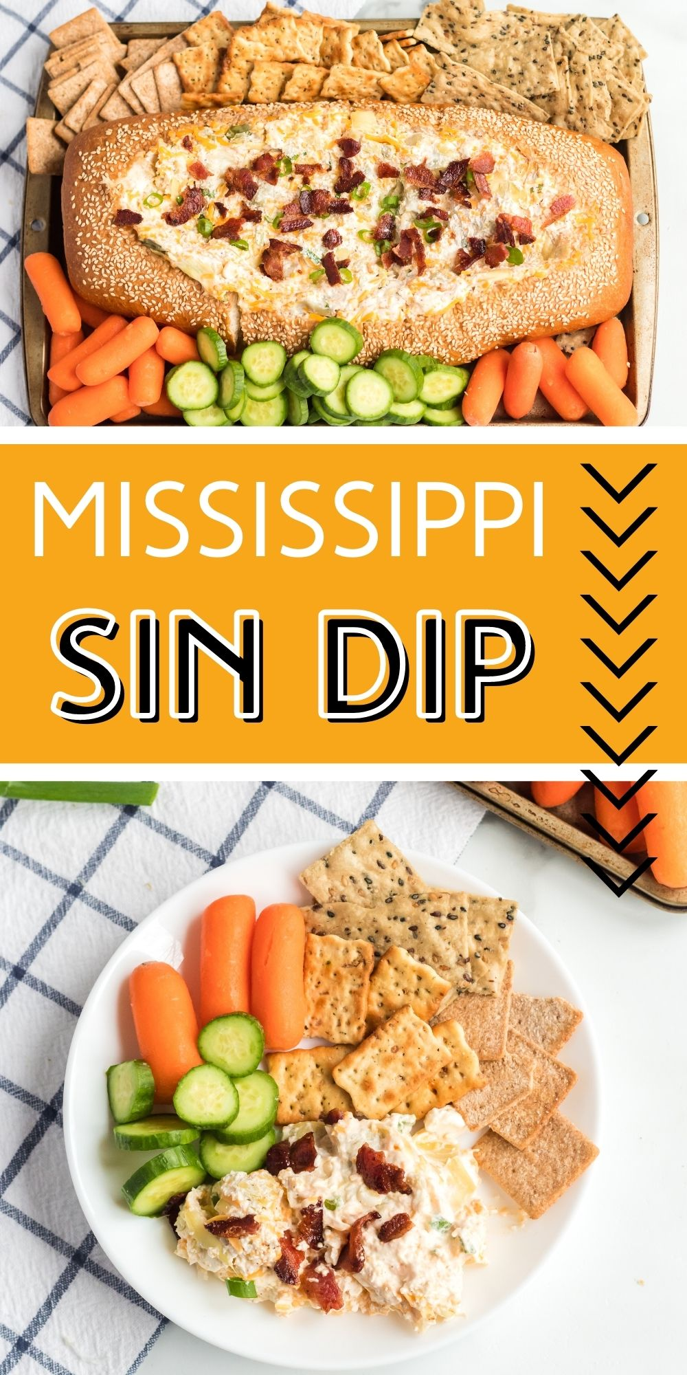 This Mississippi Sin Dip will be your new favorite party appetizer. It's a flavorful dip, warmed in an Italian loaf of bread. What's not to love? via @familyfresh