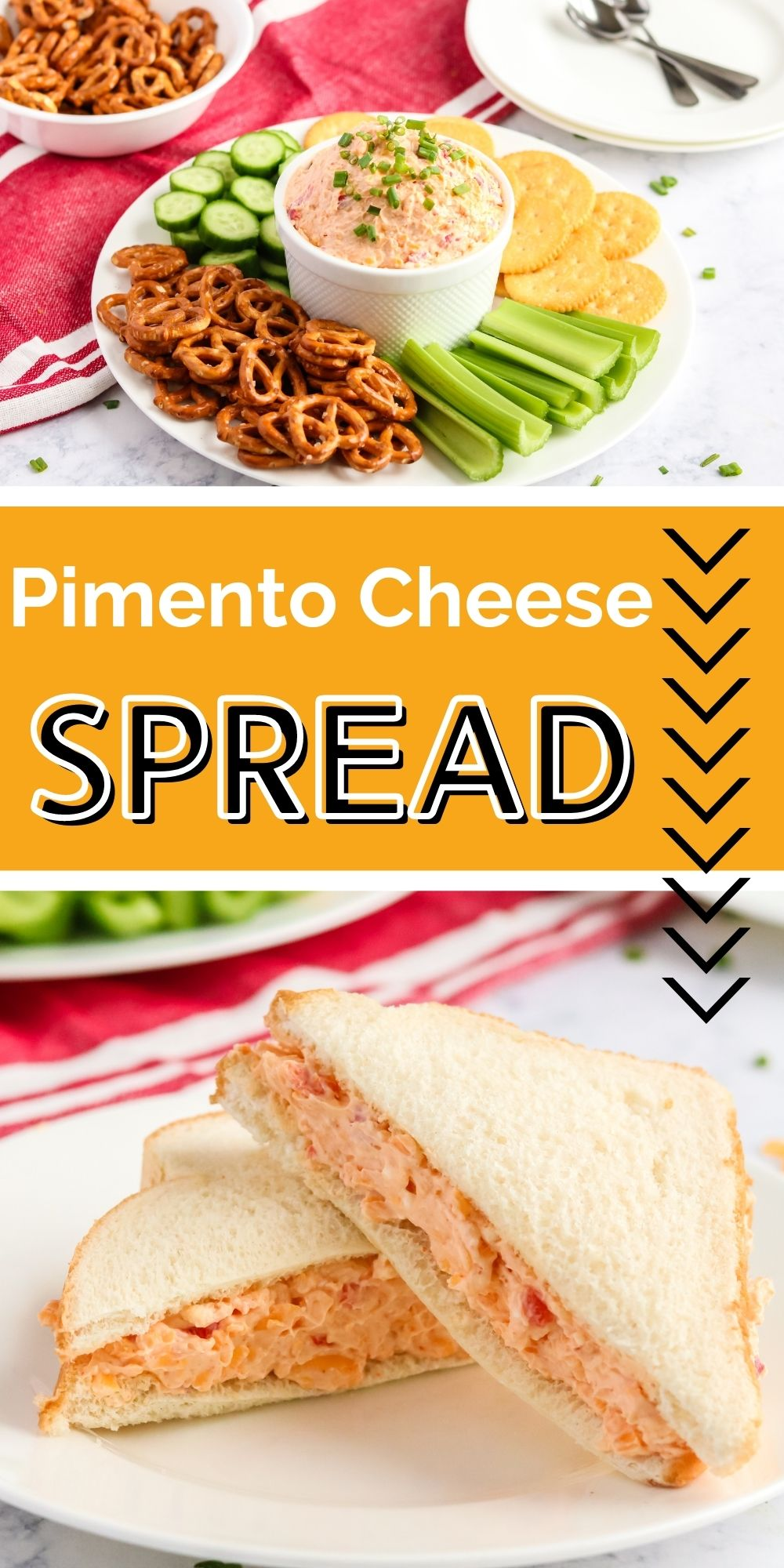 My version of Pimento Cheese Spread uses the standard blend of cream cheese, cheddar, mayo, and diced pimentos – with just a touch of cayenne to add the heat that's missing from the pimentos themselves. via @familyfresh
