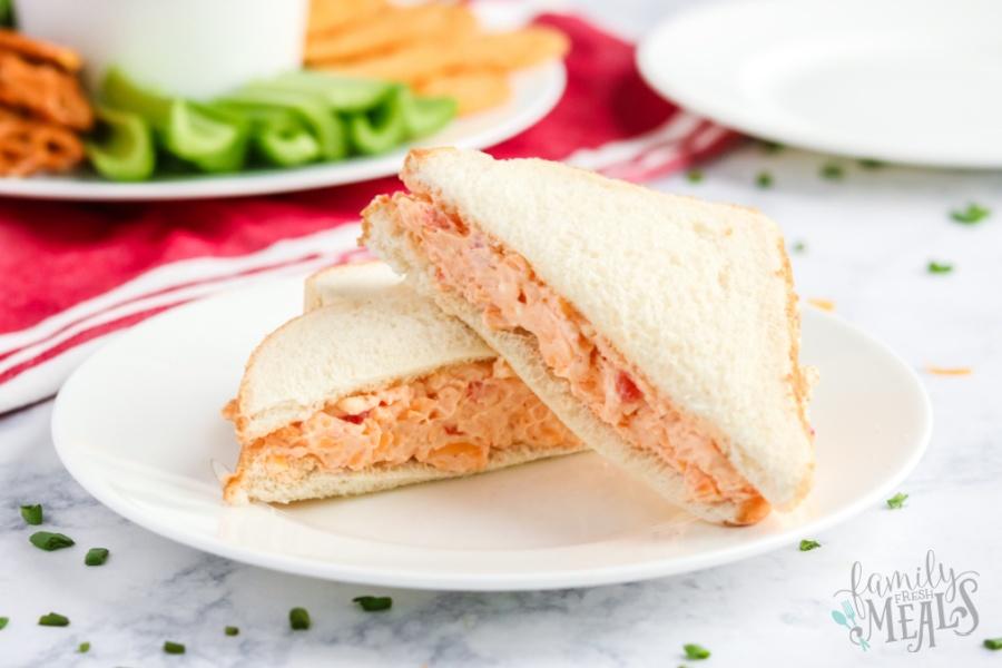 Pimento Cheese Spread sandwich