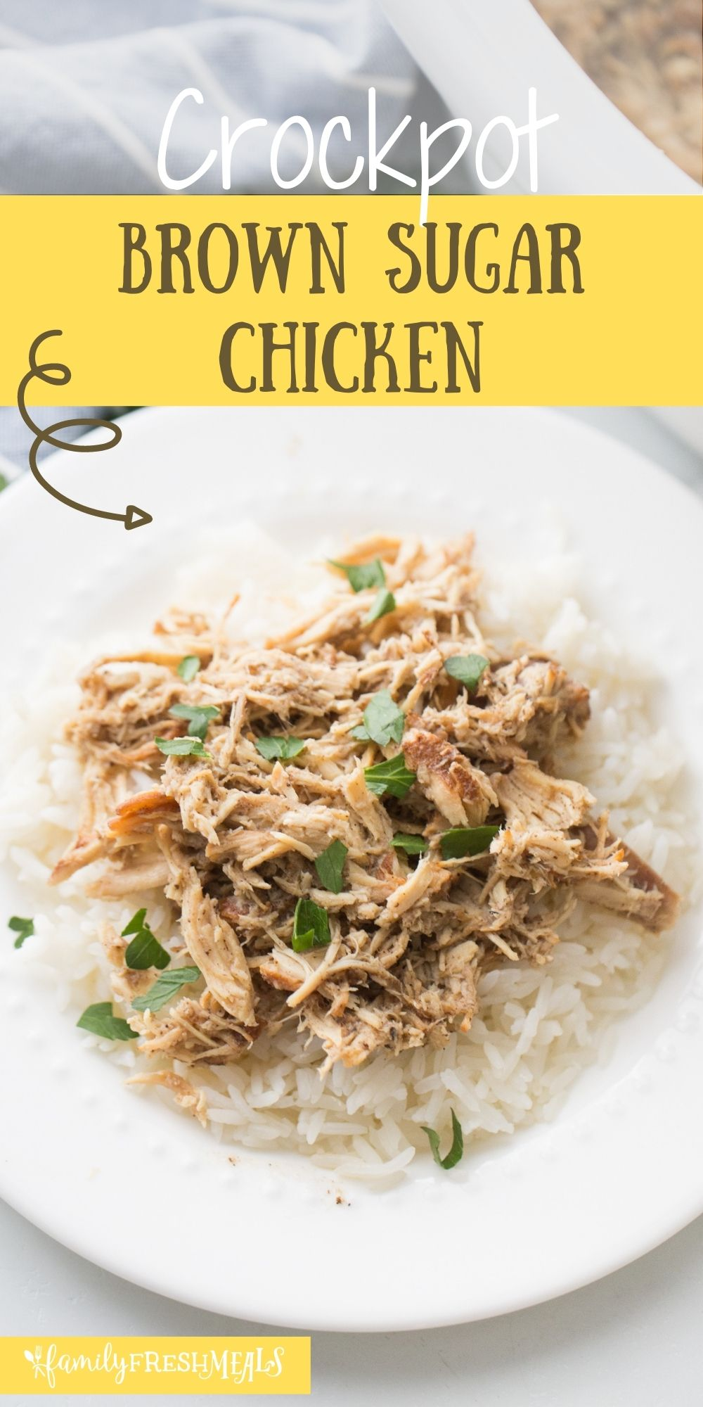 This Crockpot Brown Sugar Balsamic Chicken recipe is a fun, new variant on sweet and sour chicken. via @familyfresh