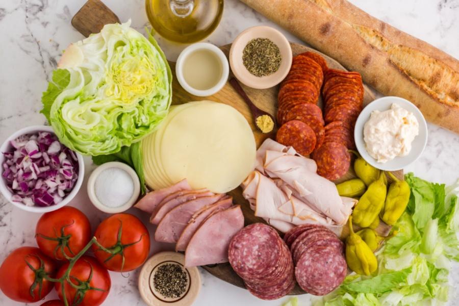 Ingredients for Italian Hoagie Dip