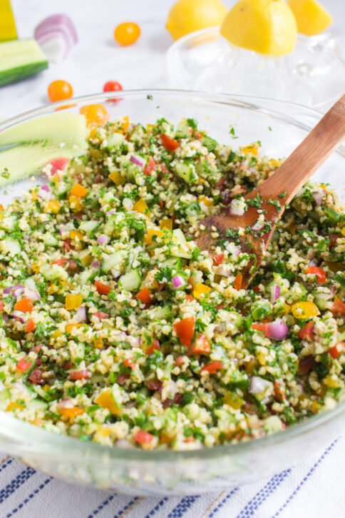 Tabouli Salad in a large bowl