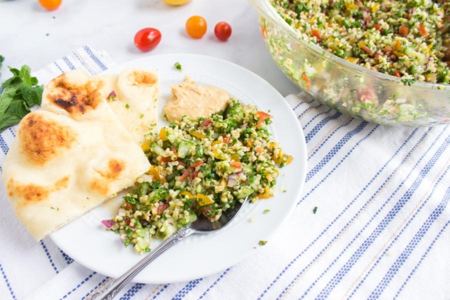 Tabouli Salad on a plate