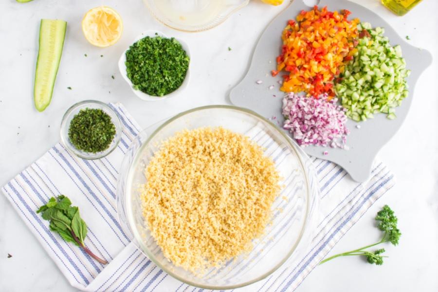ingredients for Tabouli Salad
