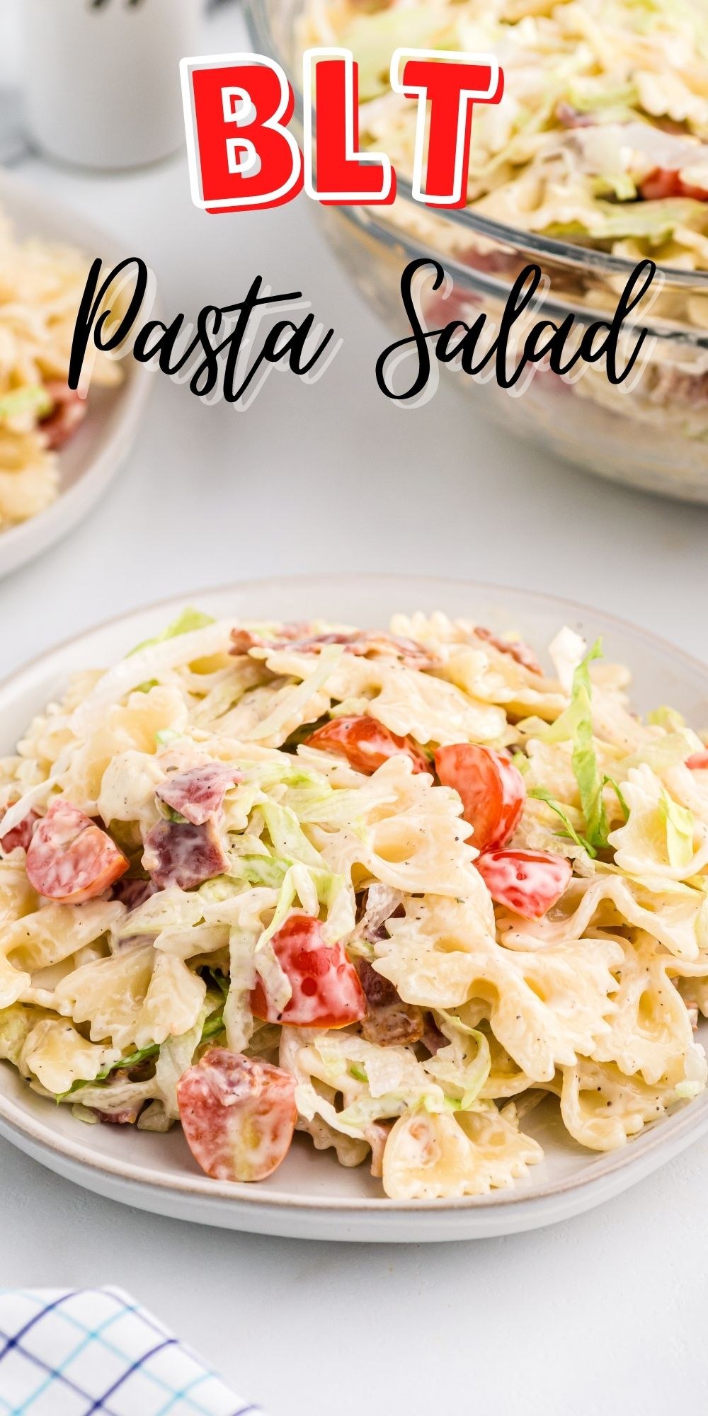 This BLT Pasta Salad recipe has turned the perfect sandwich into the perfect summer salad. A must have for your next backyard BBQ. via @familyfresh
