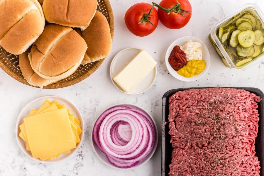 Butter Burgers- ingredients