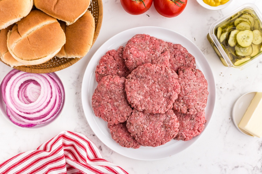 Butter Burgers patties on a plate