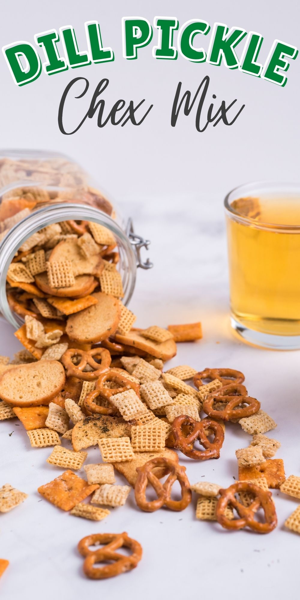 This homemade Dill Pickle Chex Mix recipe is a brilliant savory variation to the well-known sweet Chex mix recipe. via @familyfresh