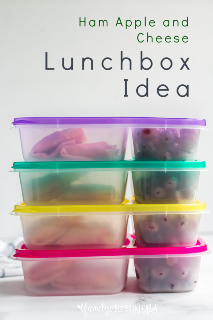 4 lunchboxes stacked on top of each other
