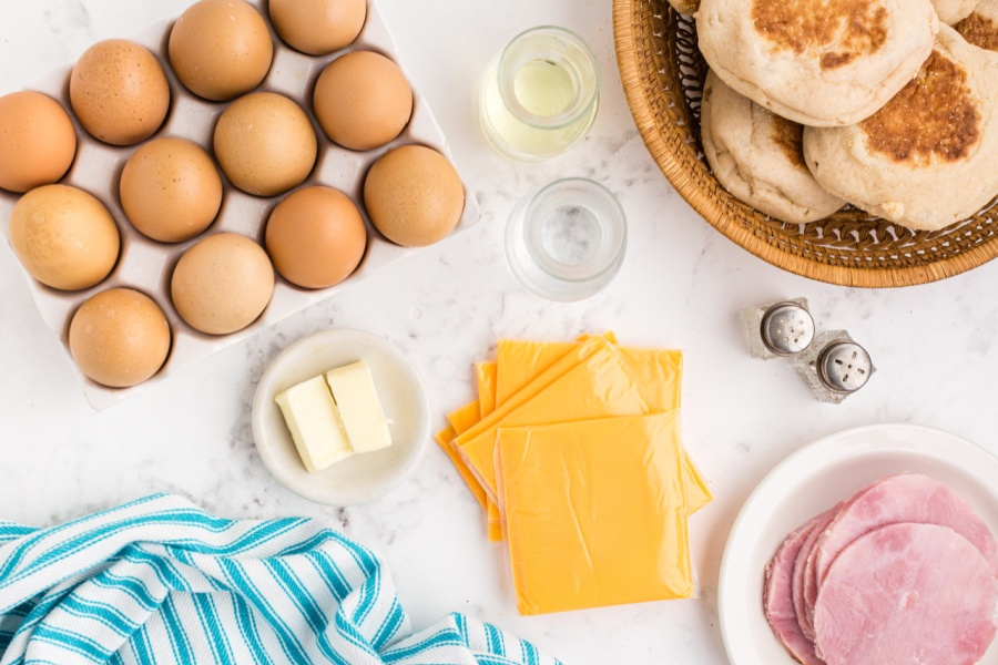 ingredients for Copycat Egg McMuffins Recipe