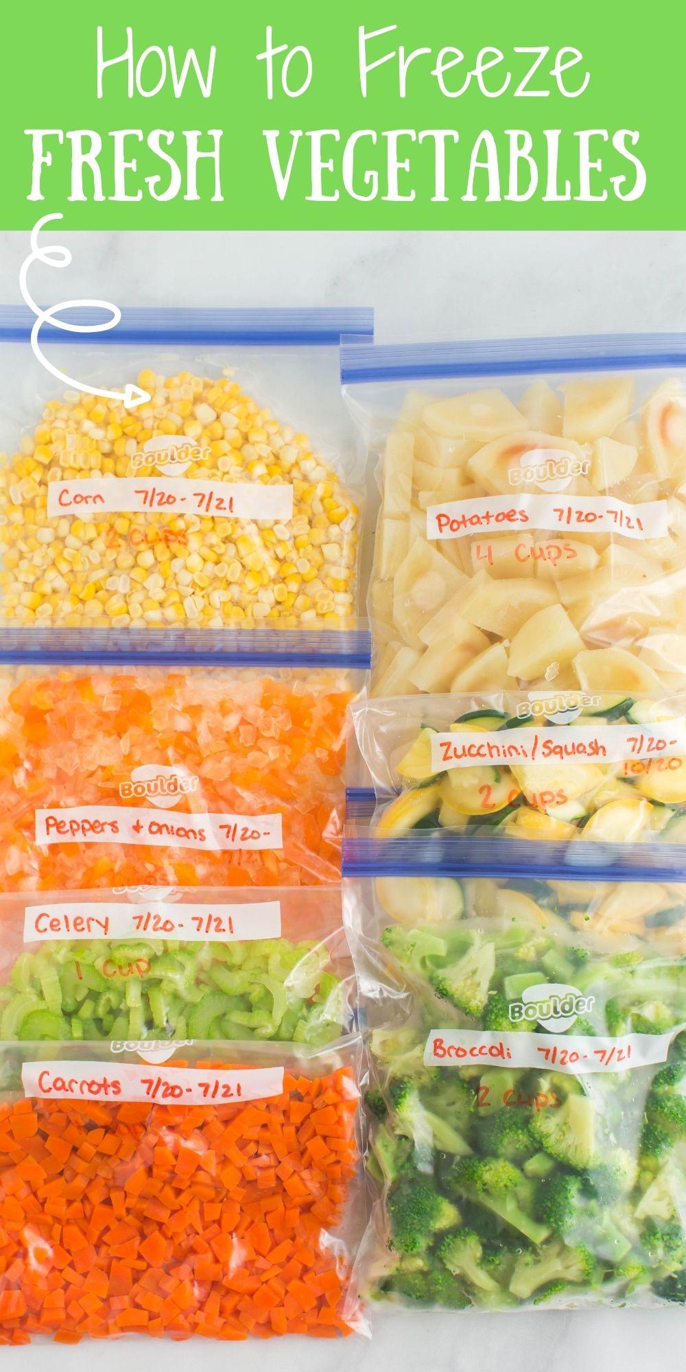 Let's start with the basics 6 steps of how to Freeze Fresh Vegetables. Potatoes, corns, carrots, celery, broccoli & more. via @familyfresh