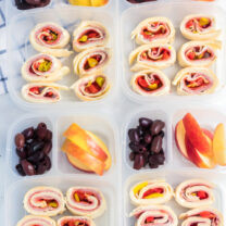 Italian Sub Roll Ups Lunch Box Idea