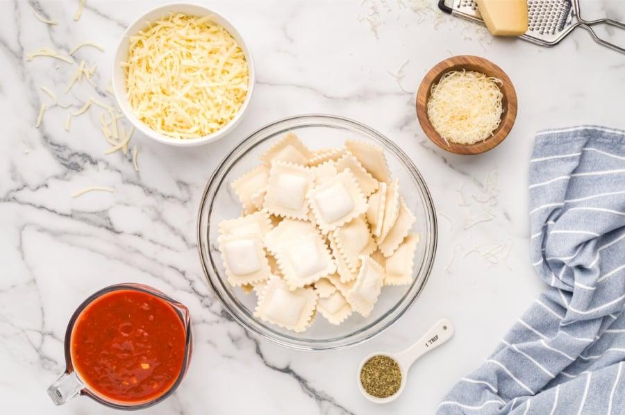 Ingredients for Baked Ravioli Casserole