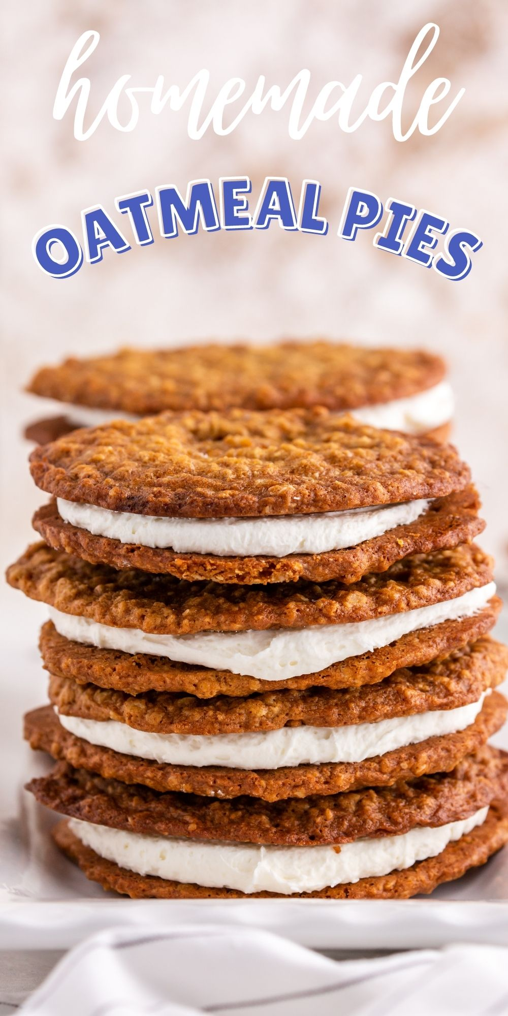 These homemade oatmeal pies are even better than any childhood memories you may have of the Little Debbie oatmeal creme pies. via @familyfresh