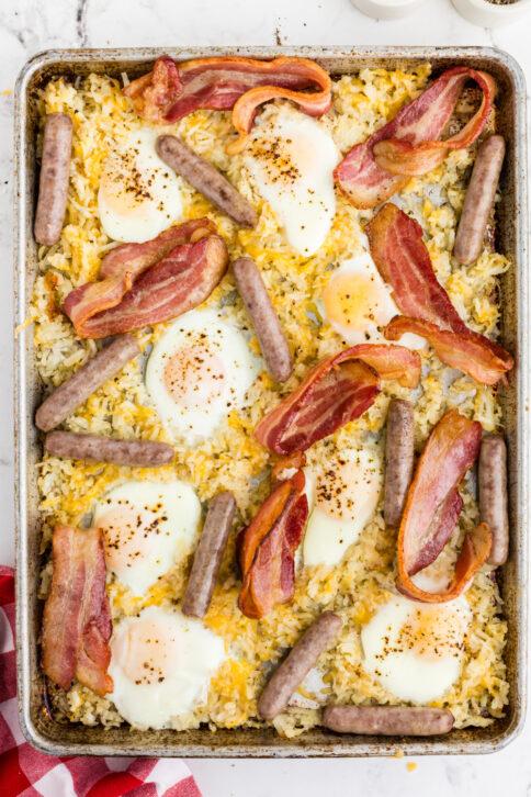 Sheet Pan Breakfast on a baking sheet