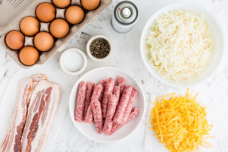 ingredients for sheet pan breakfast