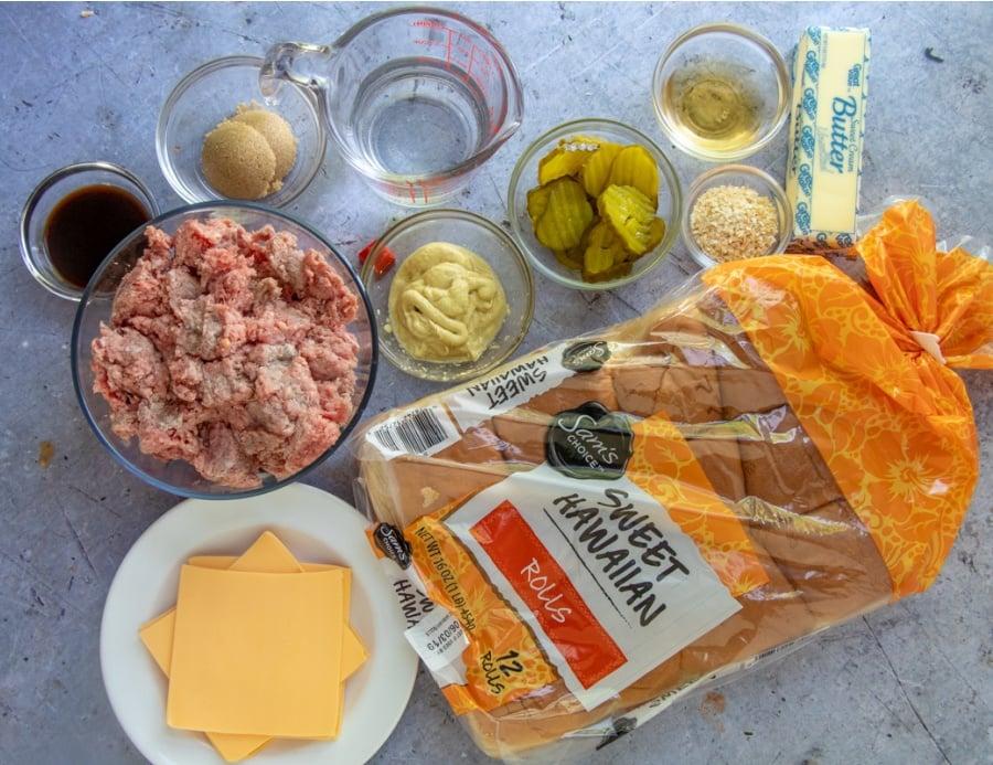 ingredients for maid rite sliders